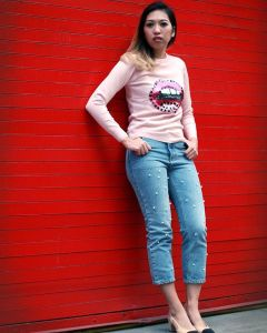 michenn looking gorgeous in her lippy shirt fashionblogger fashionista stylediarieshellip