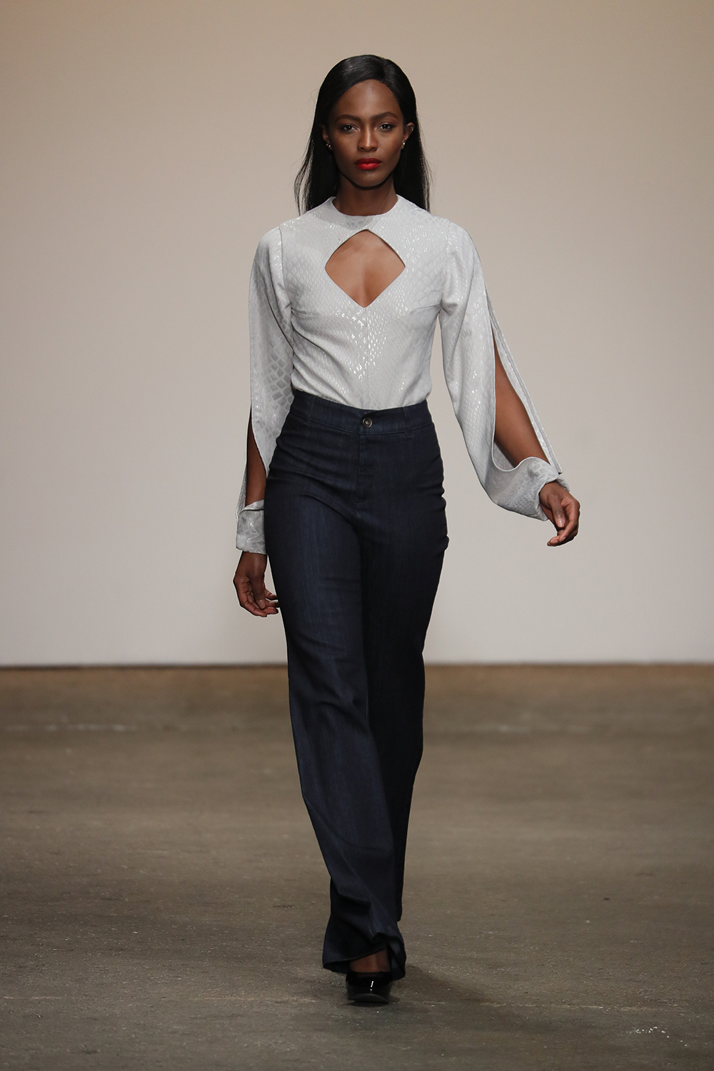 The fourth Designer to walk for Nolcha's One To Watch show was Chèlbè which means well dressed in Haitian.