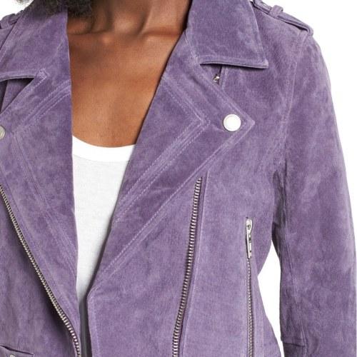 Blank nyc 'Morning' Suede Moto Jacket