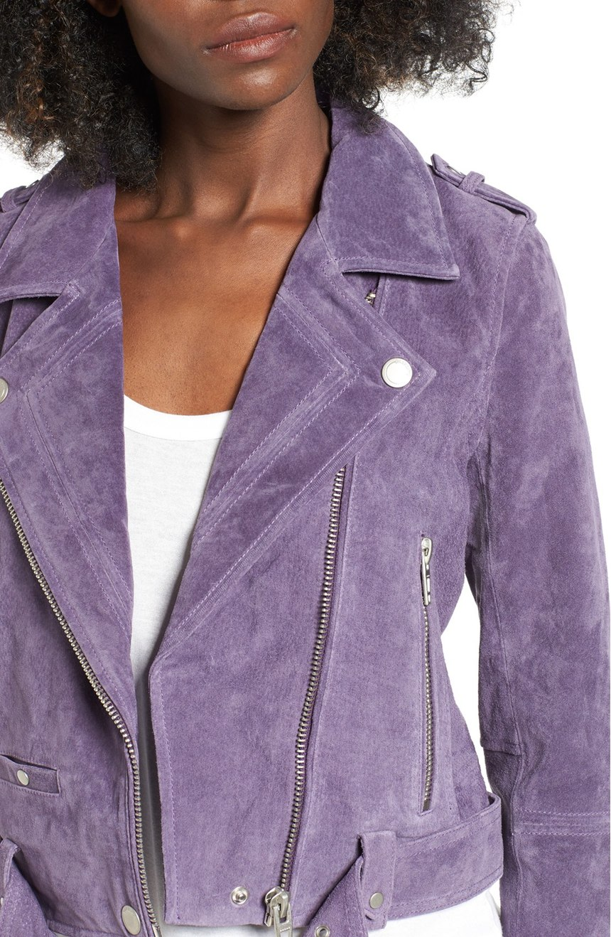 Blank nyc 'Morning' Suede Moto Jacket