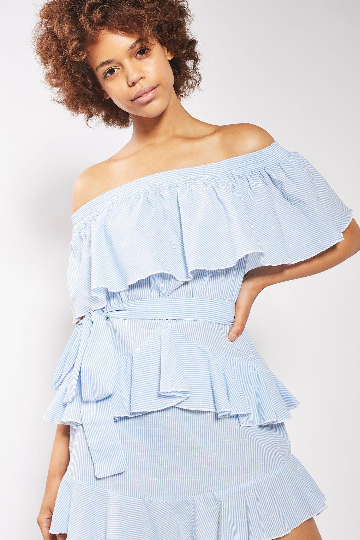 topshop ruffled dress