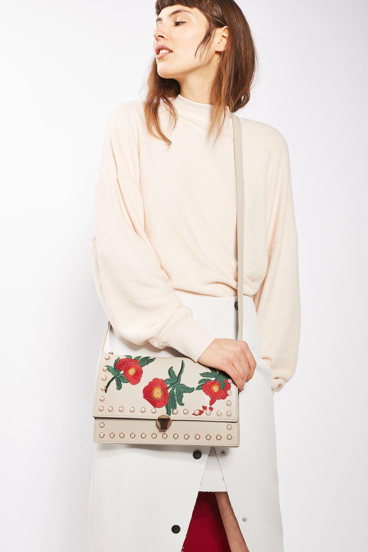 topshop ocean floral crossbody bag