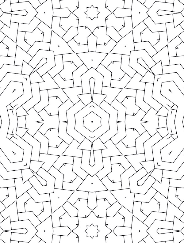 - A-Maze-ing: An Intricate Geometry Coloring Book • Allie Vane