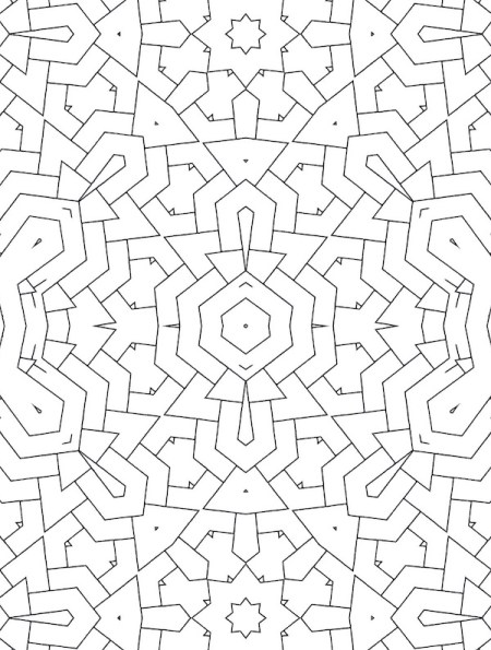 A fan of hypnotic patterns? This intricate geometry coloring book puts an abundance of stunning, maze-like coloring patterns at your fingertips.