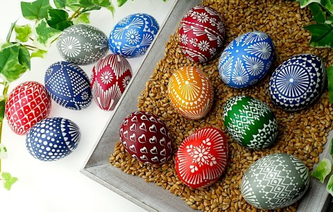 Traditional Orthodox Easter eggs are crafting masterpieces