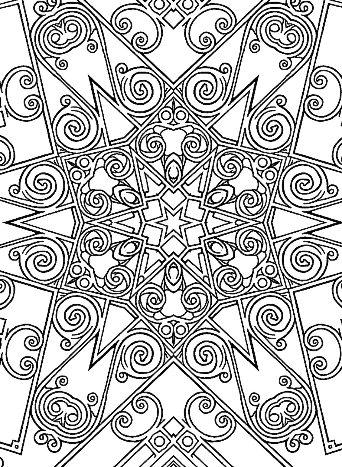 - 99: A Geometric Stress-Relief Coloring Book • Allie Vane