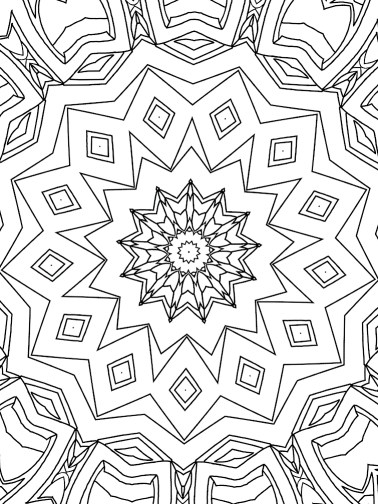 CTJC: An Abstract Mandala Coloring Book for Adults