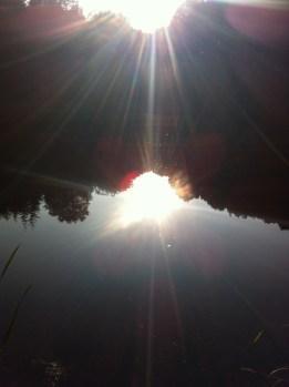 Hidden lake in Castle Hill Wood, Glasshouse