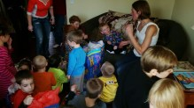 Opening presents was pure chaos