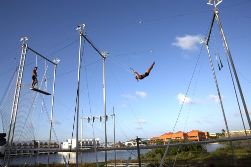 Club Med Cancun Yucatan trapeze