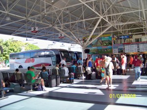 Inside the bus terminal