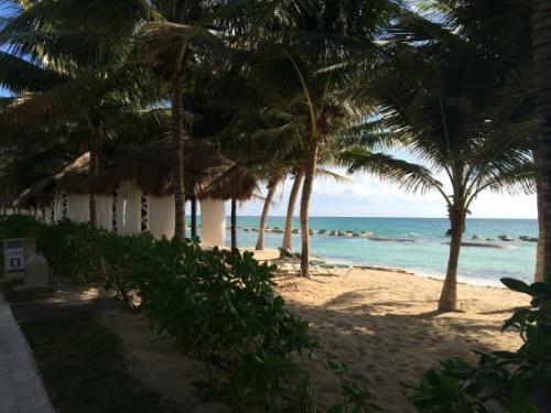 El Dorado Casitas Royale grounds and beach