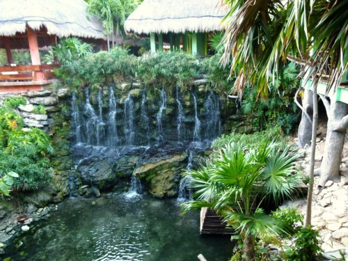 Waterfalls area by the buffet