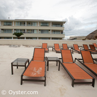 Moon Palace beach loungers