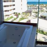 Dreams Playa Mujeres balcony Jacuzzi tub view