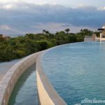 Dreams Playa Mujeres beachfront infinity pool edge and view