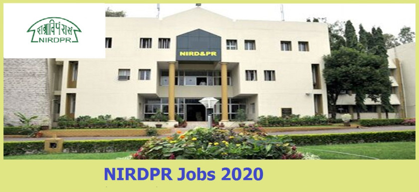 NIRDPR Hyderabad Jobs Recruitment 2020