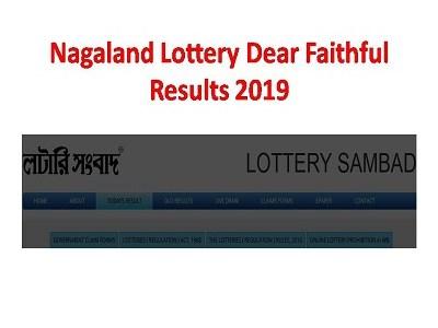 Nagaland Lottery Dear Faithful Results 31 07 2019 Today
