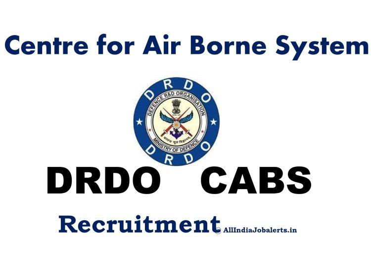 center for airborne system drdo banaglore recruitment