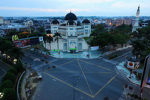 Medan Grand Mosque, Sumatra, Indonesia