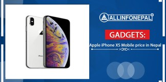Apple iPhone XS Mobile price in Nepal