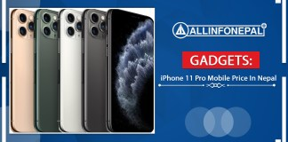 iPhone 11 Pro Mobile Price In Nepal