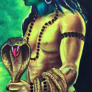 Lord Shiva with snakes