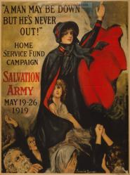 """ A man may be down but he's never out!' Home Service Fund Campain. Salvation Army, May 19-26, 1919"