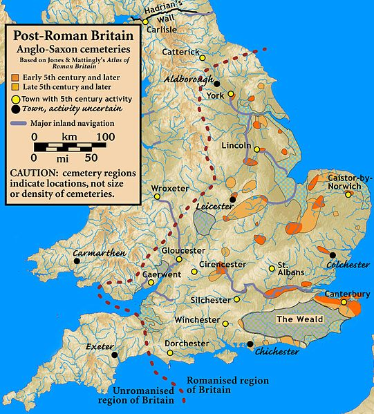Map of Post-Roman Britain