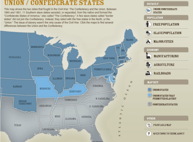 Union and Confederate States of America