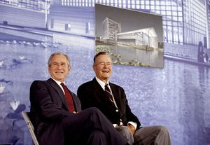 Bush and his son George W. Bush