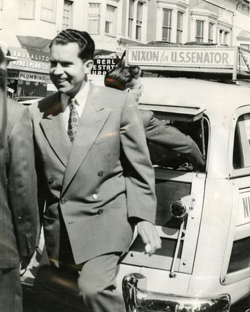 "Nixon on his ""station wagon tour"""