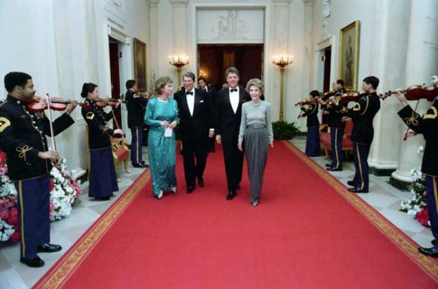 Governor and Mrs. Clinton attend the Dinner Honoring the Nation's Governors