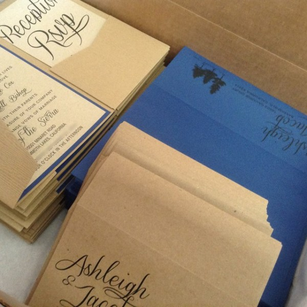 Loving these nature-inspired wedding invitations that are heading out the door!