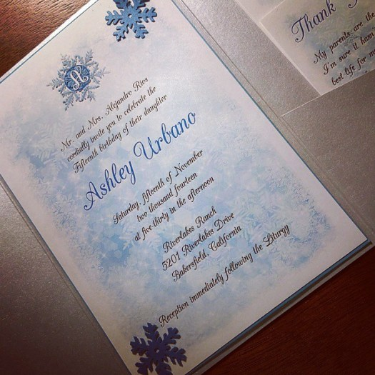 Winter Wonderland Quince invitation! #allintheinvite #quince #quinceanera #winterwonderland