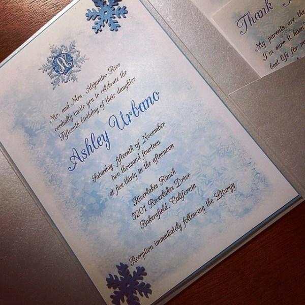 Winter Wonderland Quince invitation! #allintheinvite #quince #quinceanera #winterwonderland