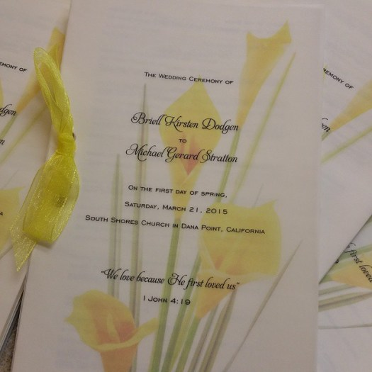 First day of Spring! What a beautuful day for a wedding! #allintheinvite #invitation #wedding #weddingprogram