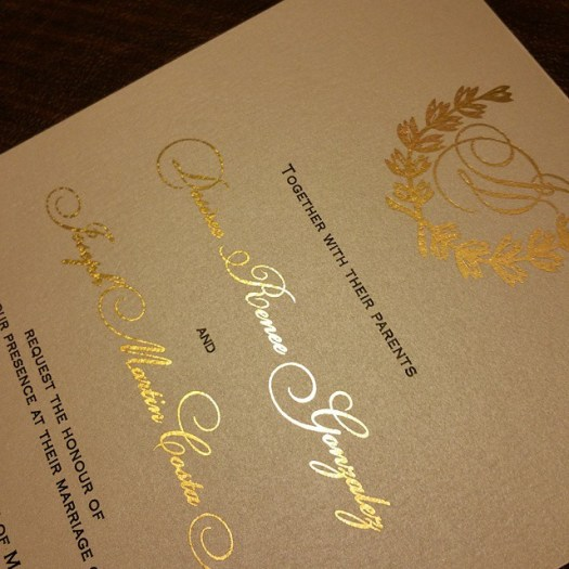 Like everyone else. ...I'm a huge fan of gold foil! Love the way these turned out! #allintheinvite #goldfoilinvitations #goldfoil #weddinginvitation #luxurywedding