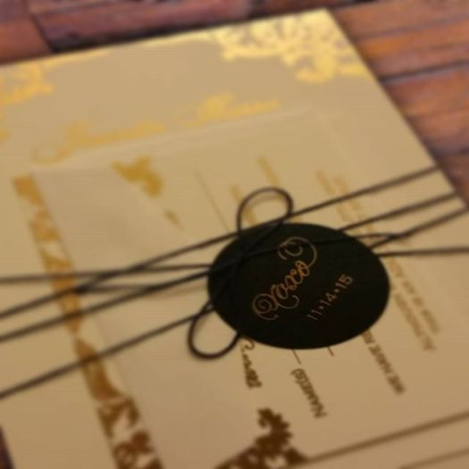 Just a #sneakpeek of some lovely #goldfoil #weddinginvitations #allintheinvite