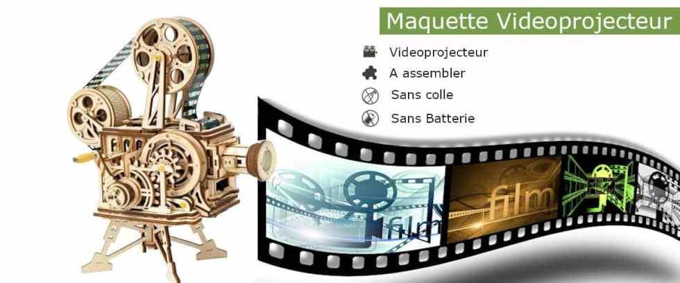 Maquette 3D en bois Vidéoprojecteur