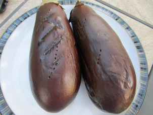 My grilled eggplants.