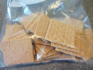 33 graham cracker squares to be crushed.