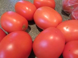 Fresh Roma tomatoes.