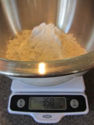 350 g of cake flour.