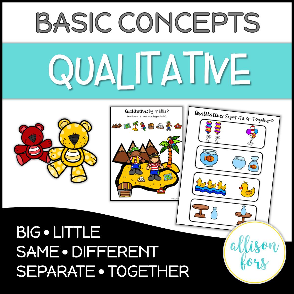Basic Concepts Qualitative Concepts No Prep