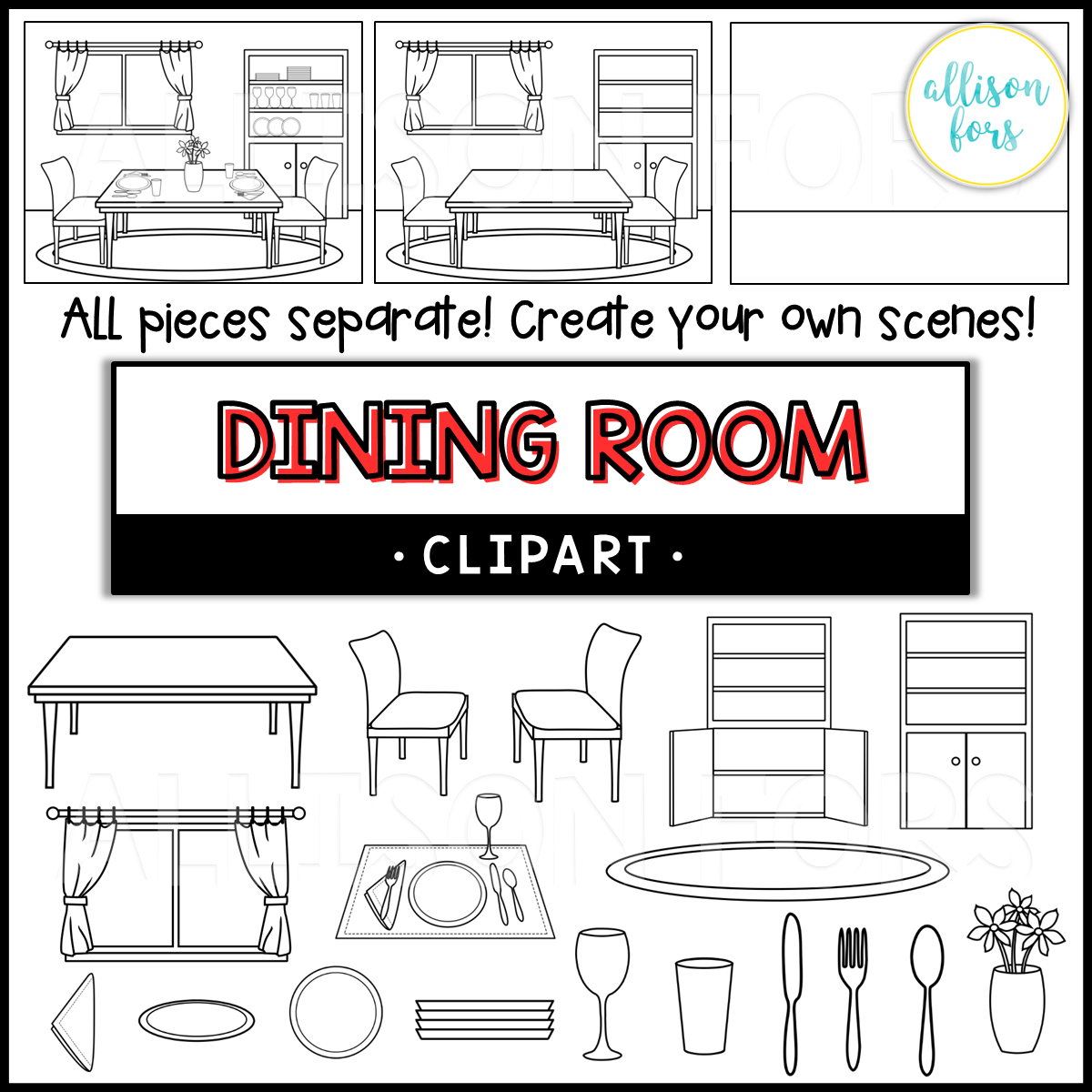 House Dining Room Clip Art