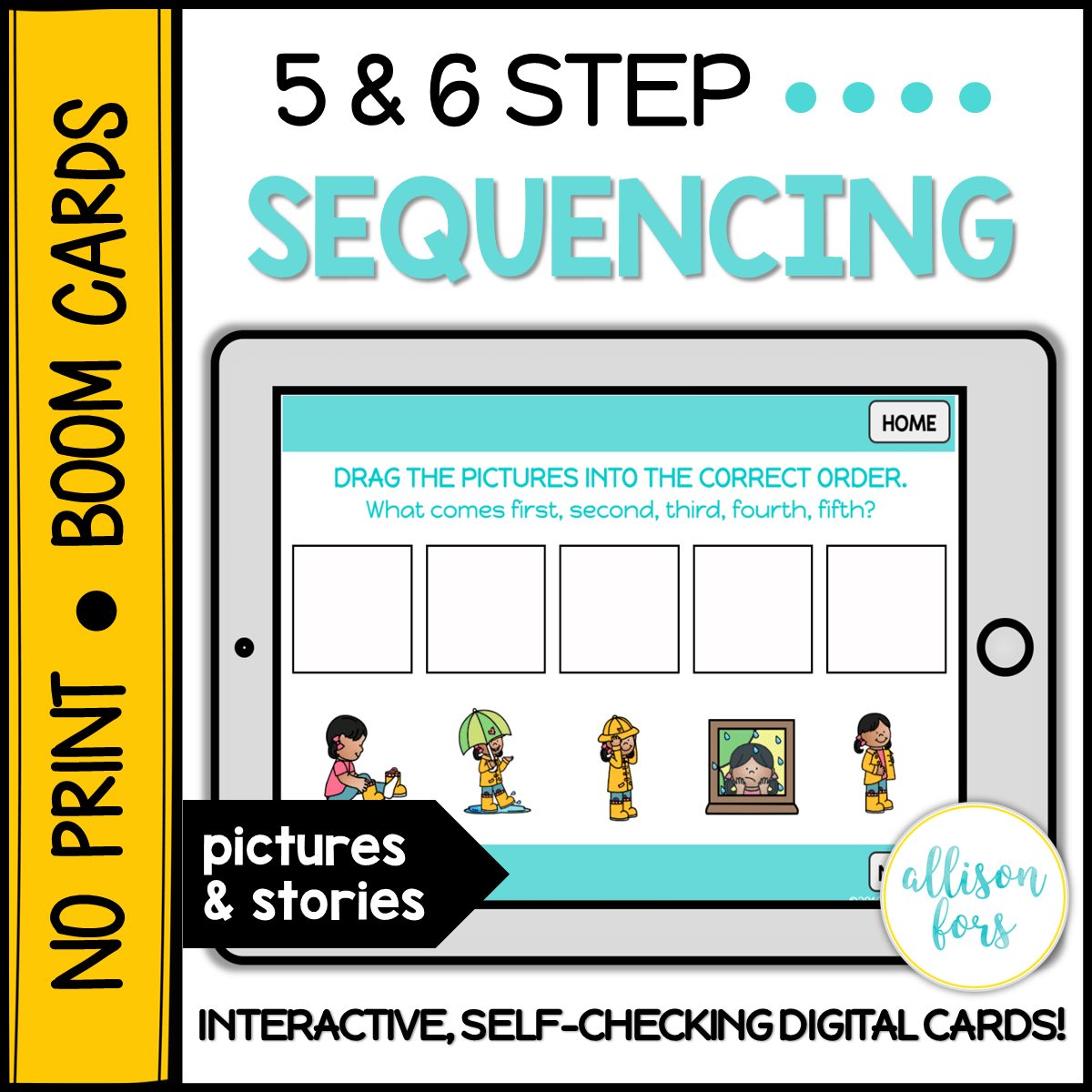 No Print Boom Cards 5 6 Step Sequencing