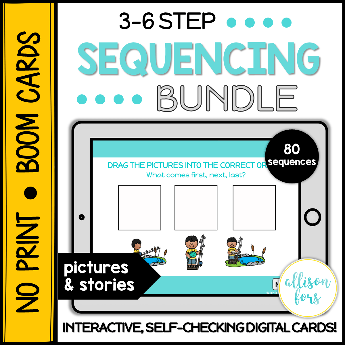 No Print Boom Cards 3 6 Step Sequencing Bundle