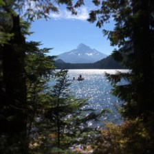 A most amazing autumn view of Mt. Hood (Lost Lake, OR)