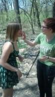Allison Merten, C.L. Manion Getting help with my makeup ;-)